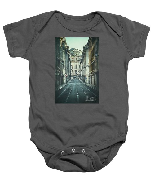 Side Tracked Baby Onesie