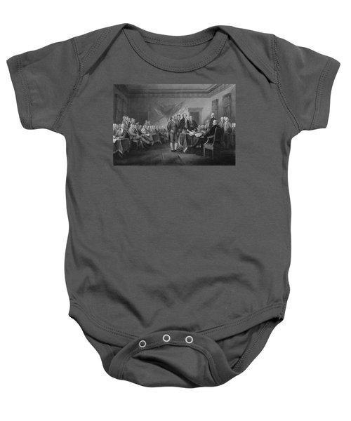 Signing The Declaration Of Independence Baby Onesie by War Is Hell Store