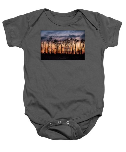Silhouetted Sunset Baby Onesie