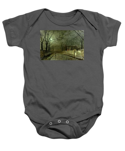 Silver Moonlight Baby Onesie