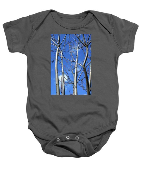 Silver Smooth Baby Onesie