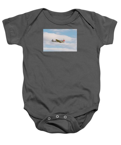Silver Spitfire Baby Onesie by Gary Eason