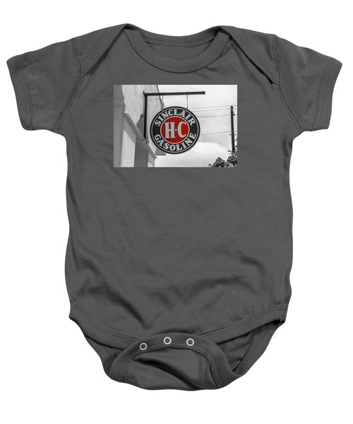 Sinclair Gasoline Round Sign In Selective Color Baby Onesie