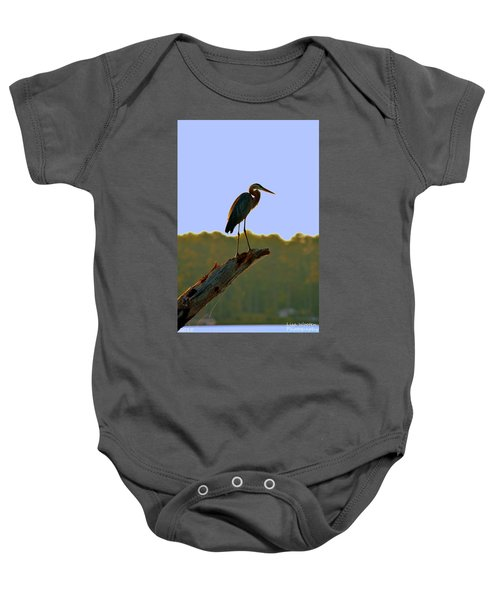 Sitting High On The Log Baby Onesie