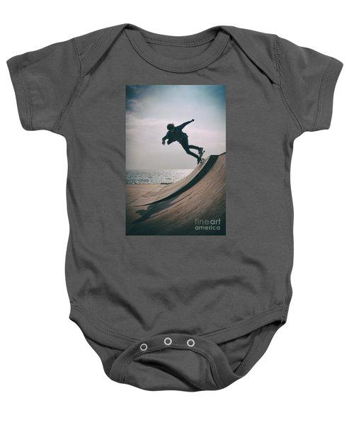 Skater Boy 007 Baby Onesie