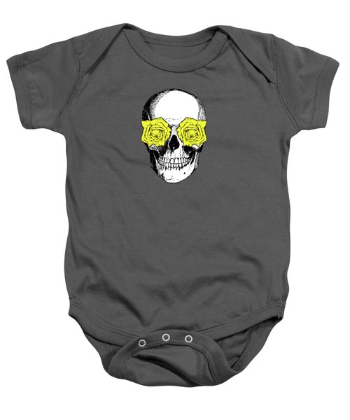 Skull And Roses Baby Onesie