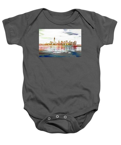 Skyline Of New York City, United States Baby Onesie