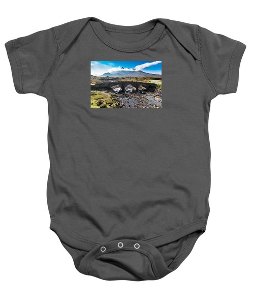 Baby Onesie featuring the photograph Skye Cuillin From Sligachan by Gary Eason
