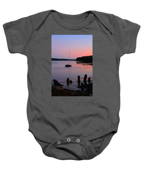 Sloop Sunset Baby Onesie
