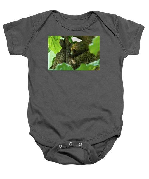 Sloth Sleeping Baby Onesie