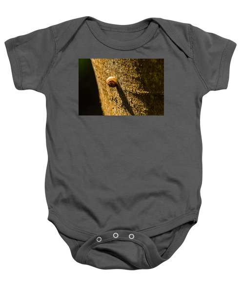Small Snail On The Tree Baby Onesie