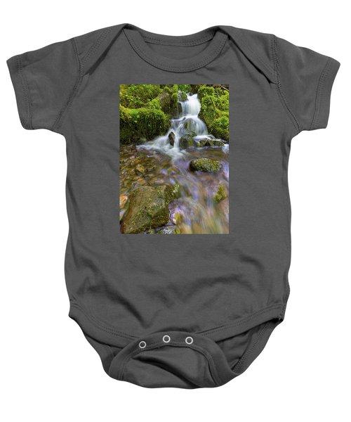 Small Waterfalls Along Wahkeena Creek Baby Onesie