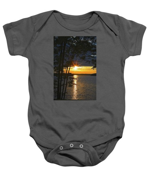 Smith Mountain Lake Summer Sunet Baby Onesie