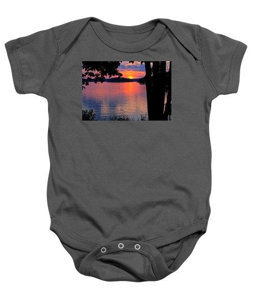 Smith Mountain Lake Sunset Baby Onesie