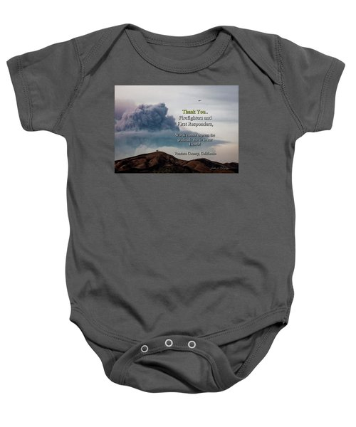 Smoke Cloud Over Two Trees Baby Onesie