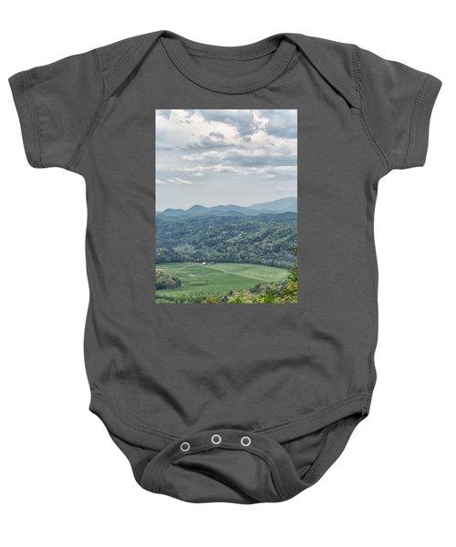 Smoky Mountain Scenic View Baby Onesie