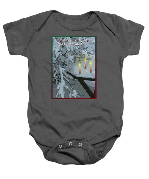 Snow And Candlelight Baby Onesie