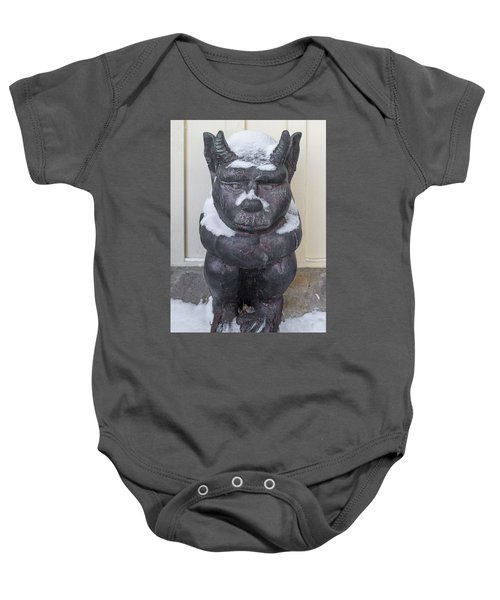 Snow Covered Chimera Baby Onesie