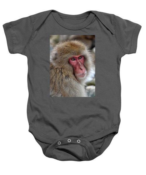 Snow Monkey Baby Onesie