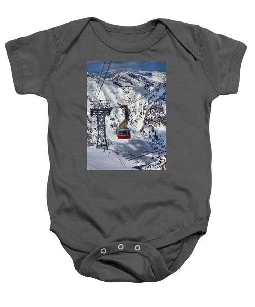 Snowbird Tram Portrait Baby Onesie