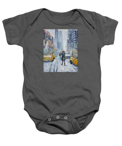 Urban Snowstorm Baby Onesie