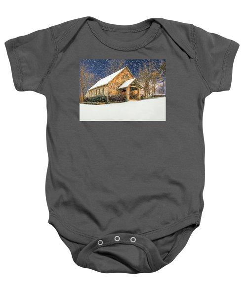 Snowy Cloudland Presbyterian Church  Baby Onesie