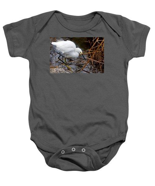 Snowy Egret Egretta Baby Onesie