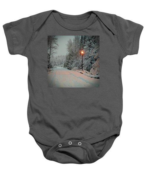 Snowy Road Baby Onesie