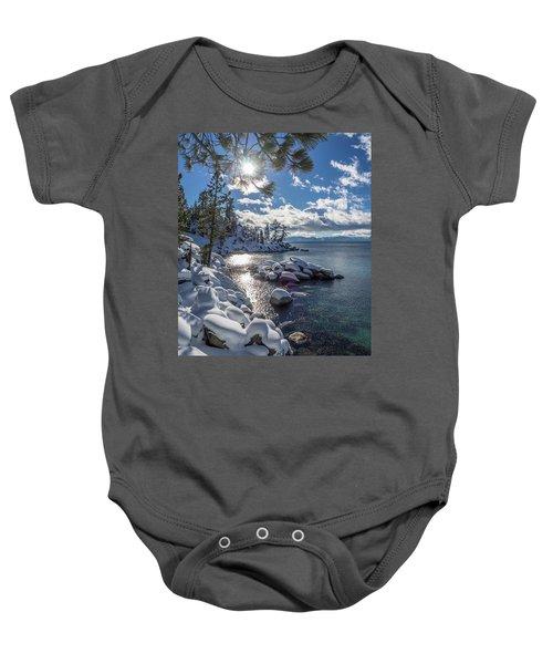 Snowy Tahoe Baby Onesie