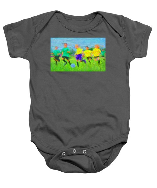 Soccer 3 Baby Onesie
