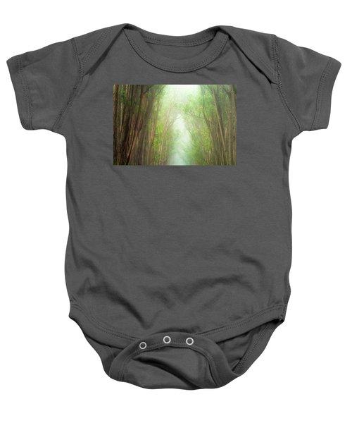 Soft Forest Light Baby Onesie