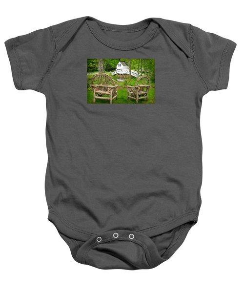 Somesville Maine - Arched Bridge Baby Onesie