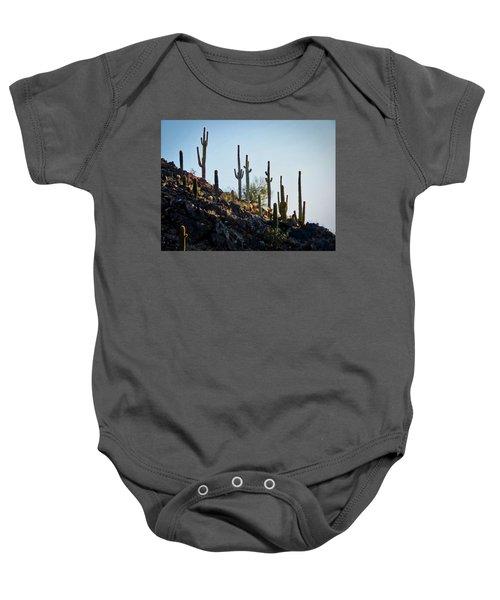 Sonoran Desert Saguaro Slope Baby Onesie