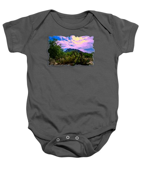 Sonoran Morning H54 Baby Onesie by Mark Myhaver