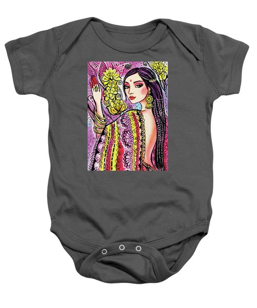 Soul Of India Baby Onesie by Eva Campbell