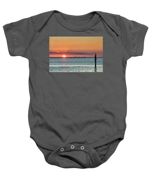South Padre Island Sunset Baby Onesie