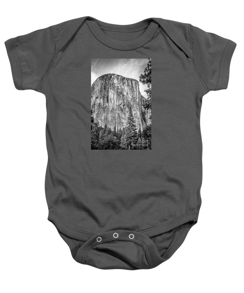 Southwest Face Of El Capitan From Yosemite Valley Baby Onesie