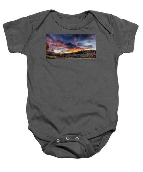 Spearfish Canyon Golf Club Sunrise Baby Onesie