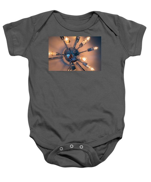 Spider Light Reflected Portrait Baby Onesie