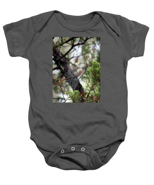 Spider Web In Tree Baby Onesie