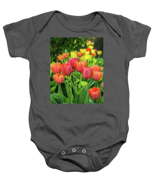 Baby Onesie featuring the photograph Splash Of April Color by Bill Pevlor