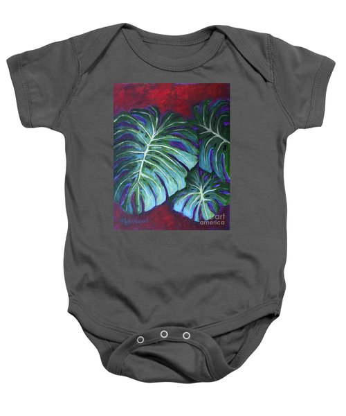 Split Leaf Philodendron Baby Onesie