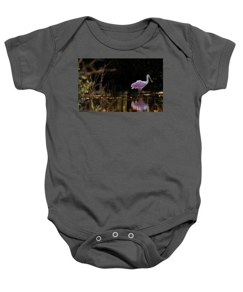 Spoonbill Fishing For Supper Baby Onesie