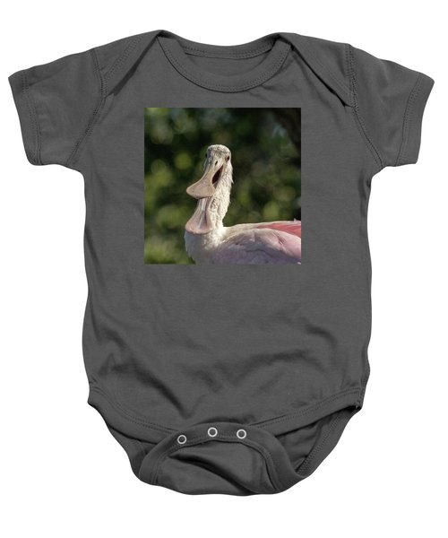 Spoonbill Talk Baby Onesie