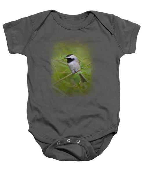 Spring Chickadee Baby Onesie