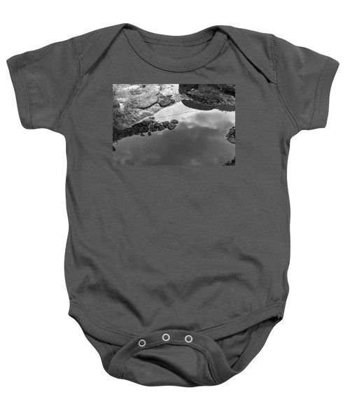 Spring Clouds Puddle Reflection Baby Onesie