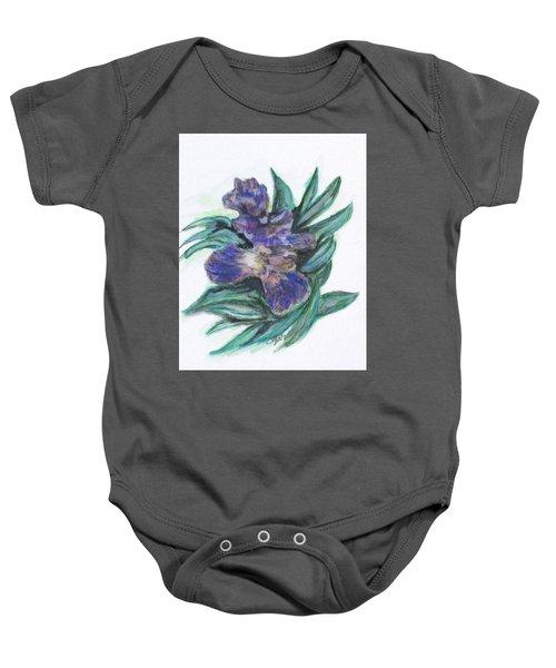 Spring Iris Bloom Baby Onesie