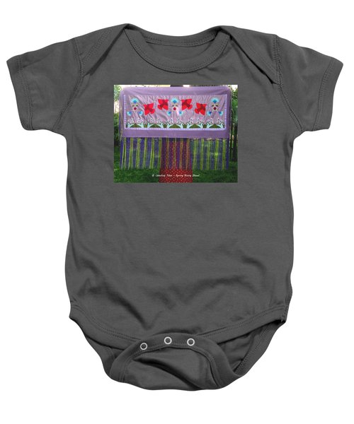Baby Onesie featuring the tapestry - textile Spring Rising by Chholing Taha
