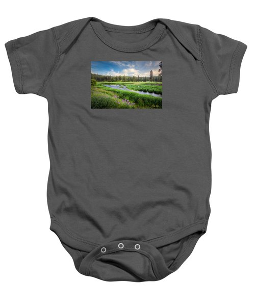 Baby Onesie featuring the photograph Spring River Valley by Rikk Flohr