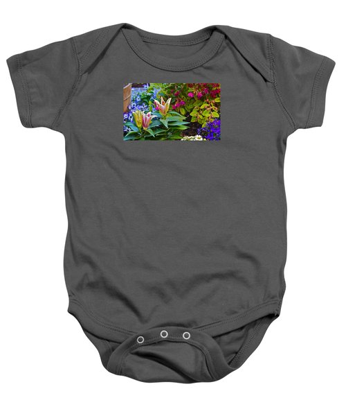 Spring Show 15 Lilies Baby Onesie